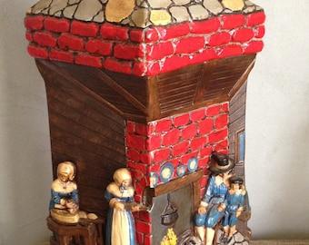 Vintage Continental Art Quaker Lamp