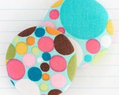 Bright, Spotted, Polka Dot, Rainbow Mix and Match, Handmade Fabric Covered Metal Flat Back Craft Buttons, 'Confetti' Duo (38mm) x 2