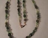 Vintage / GRANDMOTHER'S GREEN GLASS / Necklace / Retro / Trendy / Mid-Century Modern / Fashionista / Designer-Inspired / Chic / Accessory
