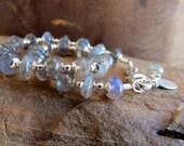 labradorite bracelet . CAPTAIN JACK . sterling silver bracelet . northern lights . gray bracelet . gemstone bracelet . dainty bracelet