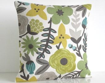 Designer Cushion Cover, 16x16 Pillow Cover, 16 Inch Pillow Sham - Potpourri Lush