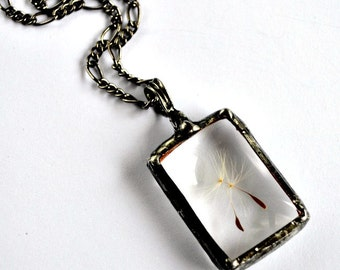 Real Dandelion Necklace Terrarium Jewelry Real Dandelion Keepsake Necklace Dandelion Seeds Long Necklace Terrarium Jewelry  (2274)