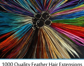 Discount Hair Feather Extensions Best Price Wholesale Feather Extentions Hair Accessories Plumes Extension Patterned Solids 1000 LONG