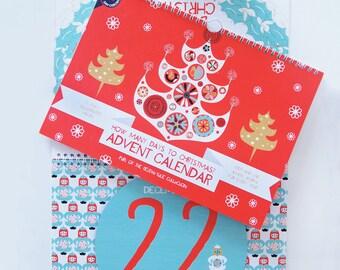 Advent Calendar Countdown to Christmas Perpetual Holiday Decor Scandinavian Style