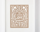 Go Where Love Grows Screen Print