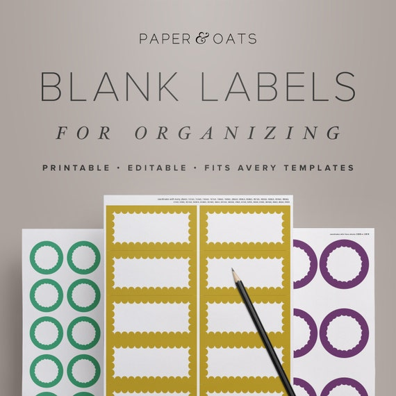 printable blank labels for organizing editable by paperandoats
