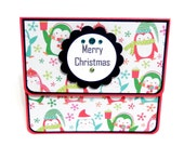 Christmas Penguins: Gift Card Holder, Gift Card Envelope, Gift Card Box, Money Holder