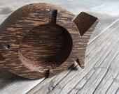 Fish design Palm wood Ashtray accessories box