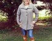 50% OFF The Esplanade Coat pdf sewing pattern, coat sewing pattern, womens jacket PDF sewing pattern, Seamingly Smitten, peacoat pattern