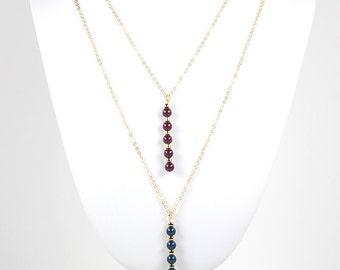 Raise the Bar Swarovski Pearl Bar Pendant Chain Necklace