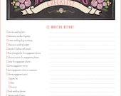 12 Month Wedding Checklist - Wedding Planner Checklist Printable PDF - BEST SELLER!