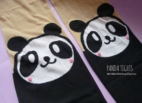 Panda Knee High Hosiery Pantyhose Tattoo Socks Leggings Tights Stockings