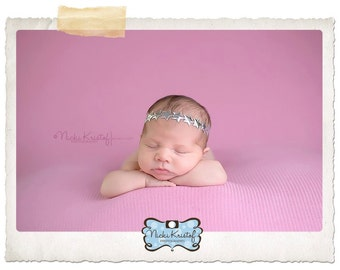 SILVER Star Headband, perfect for newborn photo shoots and regular dress up, baby headband, by Lil Miss Sweet Pea Boutique