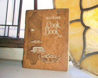 1926 Watkins Cookbook Vintage Cook Book Full Color Illustrations