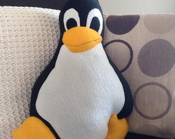 SALE! Wannabe Linux Penguin Plush Cushion
