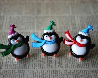 Penguin Studs -- Penguin Earrings, You choose the color!