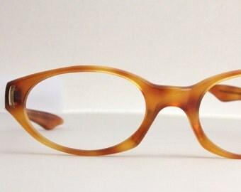 Vintage 50's Butterscotch Cat Eye Eyeglasses Sunglass Frames