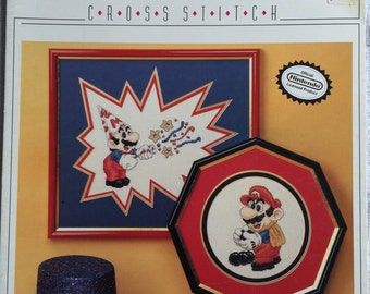 CCS - Party Mario and Bowling Mario Counted Cross Stitch Pattern Chart by Nintendo