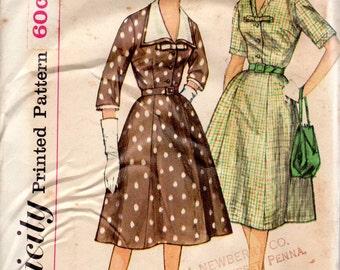 "1960s Women's Dress with Detachble Collar Pattern - Size 14, Bust 34""- Simplicity 3552 Slenderette"