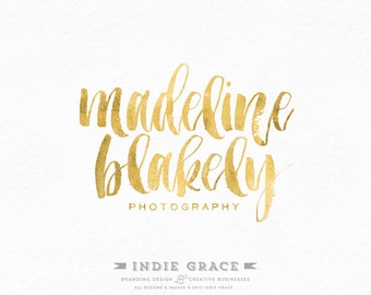 Custom PreDesigned / Madeline Watercolor calligraphy premade logo design - photography or boutique logo