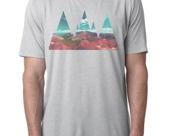 Abstract Mountains T-shirt Men's Graphic tee