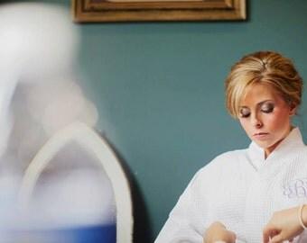 WHITE COTTON ROBE - Bridesmaid Robes - Bridal Robe - Wedding Robes - Bridal Party Robe - Kimono Robe - Monogrammed Robe - Dressing Gown