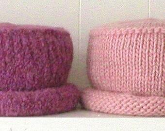 Knitting Pattern For Pillbox Hat : Bucket hat pdf Etsy