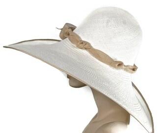 WIDE BRIM Ultimate Beach Hat, Panama Straw Women's Hat, Pool Hat, Sun Hat