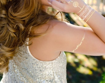 """Metallic Temp Tattoos in Gold and Silver  - all of our designs mean """"I Love You"""""""