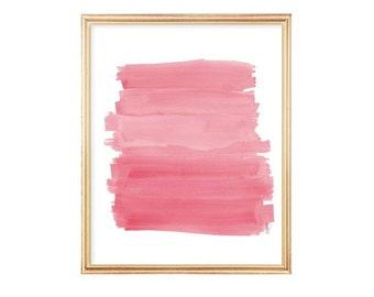 Pink Playroom Print, 8x10, Pink Nursery Art, Playroom Decor, Girls Room Decor, Pink Nursery Wall Art, Pink Watercolor, Pink Brushstrokes,