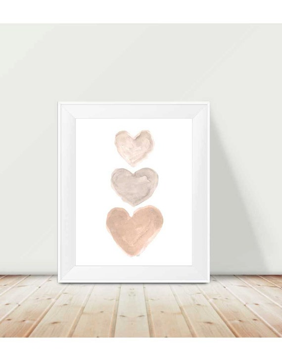 Natural Nursery Print, 11x14 Heart Collage Print