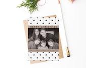 Modern Christian Christmas Photo Card - Printable DIY