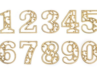 metal house numbers cast iron wall metallic gold hangers decorative victorian decor 45 inches - Decorative House Numbers
