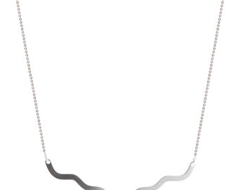 wave stainless steel necklace