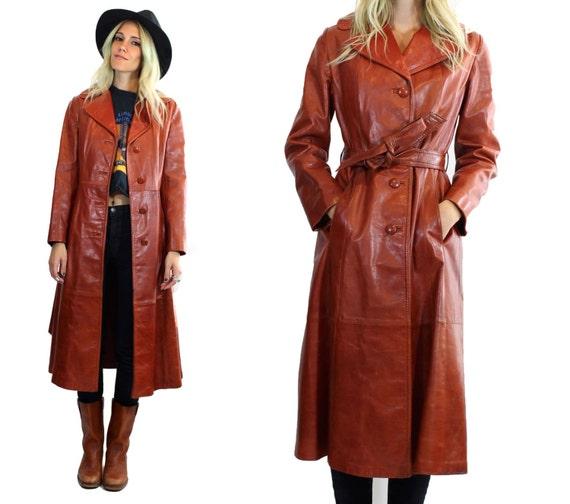 Womens Long Leather Coats Sale