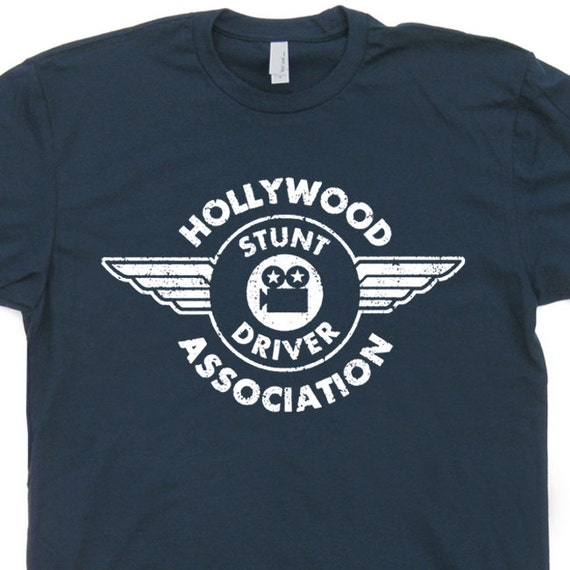 Hollywood stunt driver t shirt vintage soft movie film t shirt for Race car driver t shirts