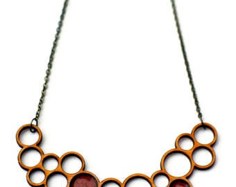 double bubble necklace - red