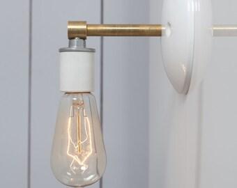 Brass - Steel Wall Sconce - Bare Bulb Light