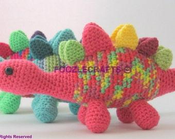 Crochet Dinosaur - Colourful Stegosaurus