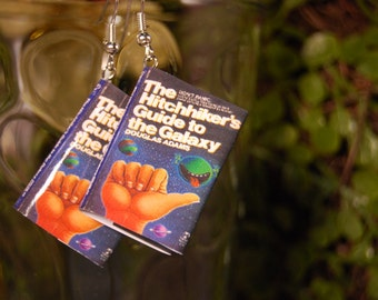 Hitchhikers Guide Book Earrings