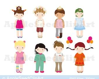 Crazy Hair Day Digital Clip Art, Pajamas Day Digital Clip Art, Mix Match Day Digital Clip Art, Cute Girls Digital Clip Art, Instant Download