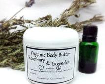 Organic Body Butter Homemade Lotion Skin Cream with Shea Butter