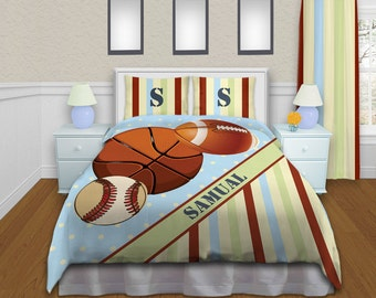 Baseball Bedding For Boys Sports Comforter Sets Twin Queen King Basketball