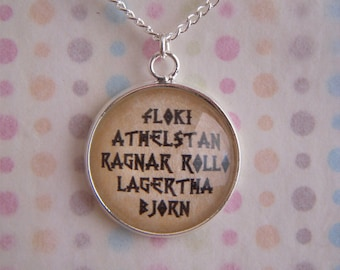 Vikings Character Names Necklace