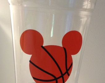 24 Mickey Mouse Basketball Party Cups