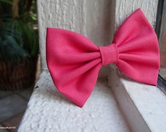 Hot Pink - Hair Clip Bow / Hair Clip / Hair Accessory / Bow