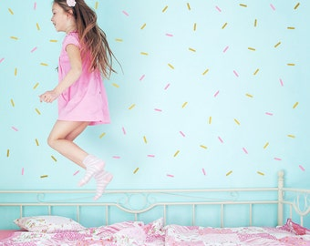 Sprinkles Wall Decal / Mini Bar Decal /156 Sprinkles sticker / Kids wall decoration / 2 color sprinkles decal / baby room / gift