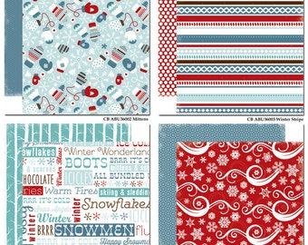 SALE! All Bundled Up Paper Pack from Carta Bella - 12 Sheets