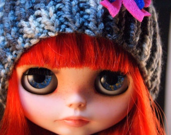 Knit Hat for Blythe doll
