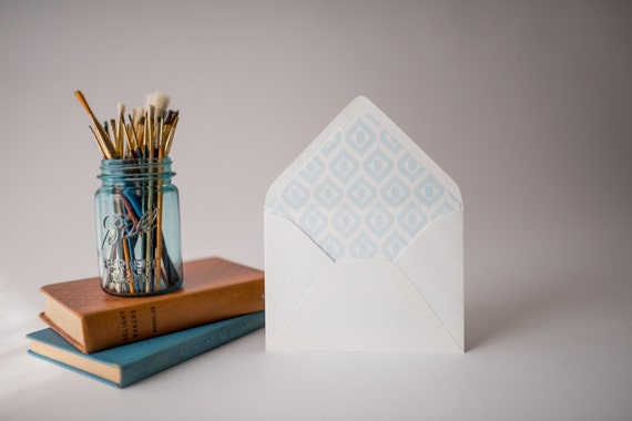 ikat lined envelopes (20 color options) - sets of 10